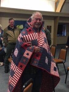 Quilt of Valor presented to Phillip Hayter, Sept. 13, 2018