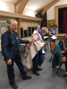 Quilt of Valor presented to Roberta Haire, Sept. 13, 2018